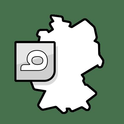 Illustration: une carte de l'Allemagne avec le logo de bett1