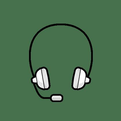 Illustration: un casque avec un micro
